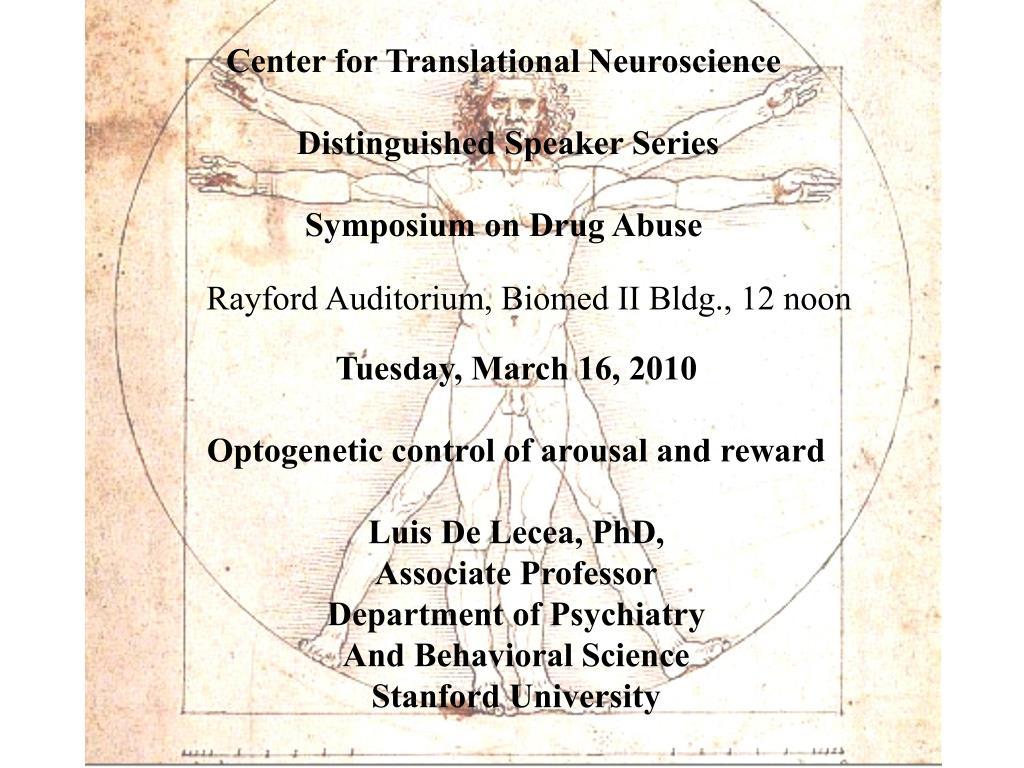 Center for Translational Neuroscience