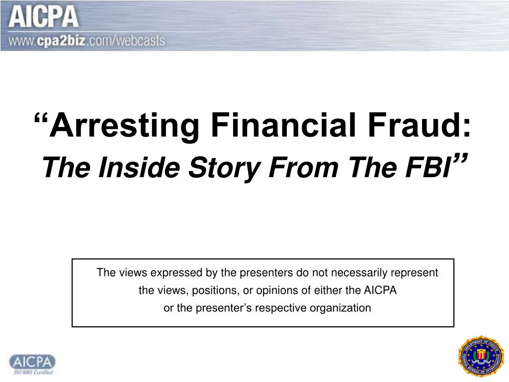 arresting financial fraud the inside story from the fbi l.
