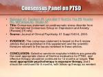 consensus panel on ptsd