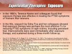 experiential therapies exposure