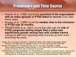 prevalence and time course