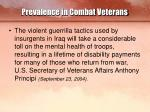 prevalence in combat veterans