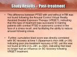 study results post treatment