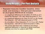 study results pre post analysis