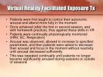 virtual reality facilitated exposure tx15
