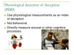 physiological detection of deception pdd