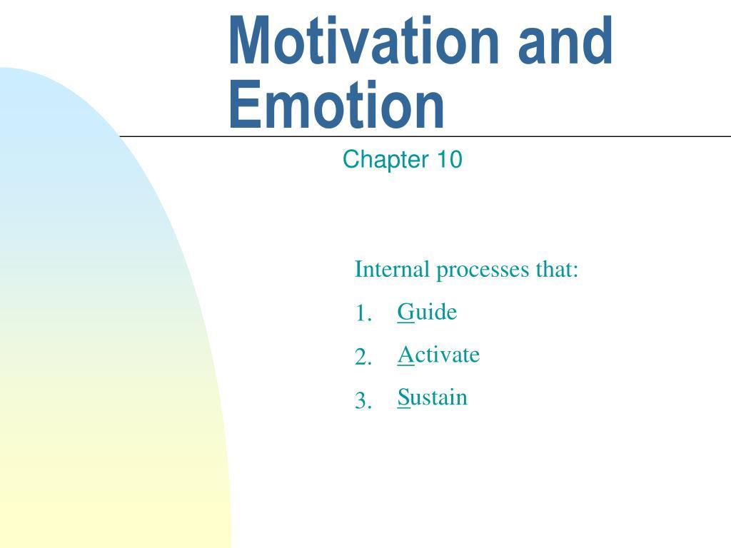 motivation and emotion l.
