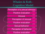 whalen roth cognitive model