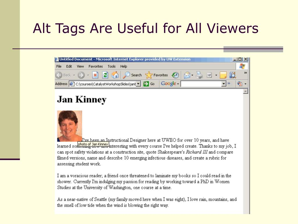 Alt Tags Are Useful for All Viewers