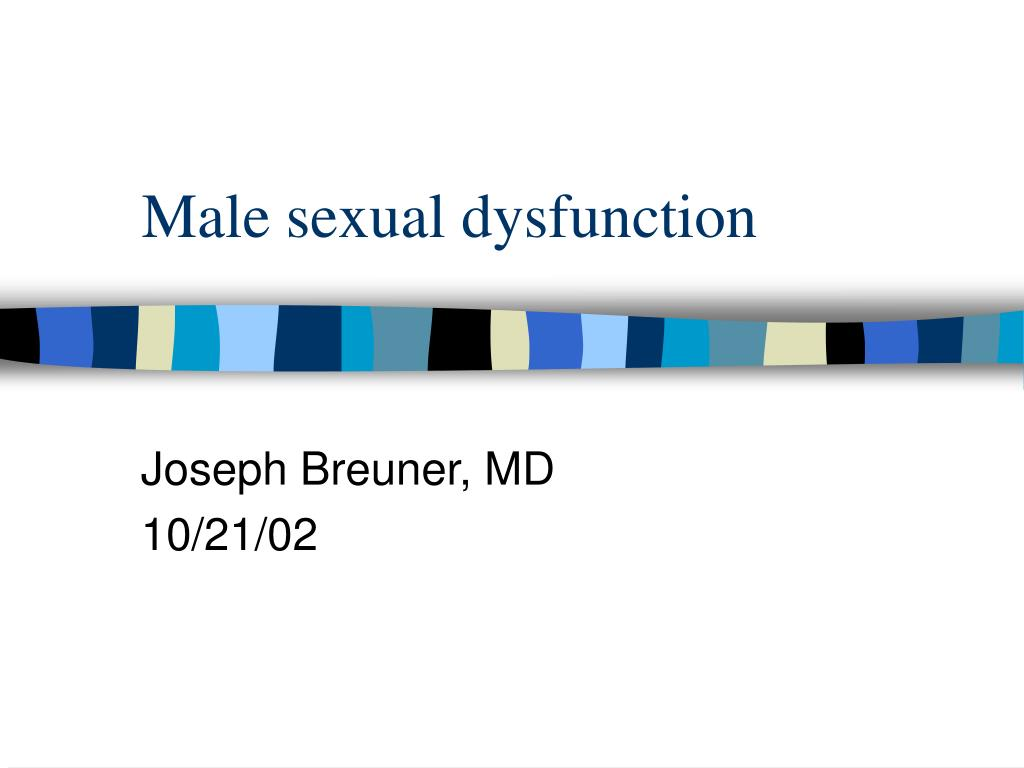 male sexual dysfunction l.