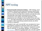 npt testing