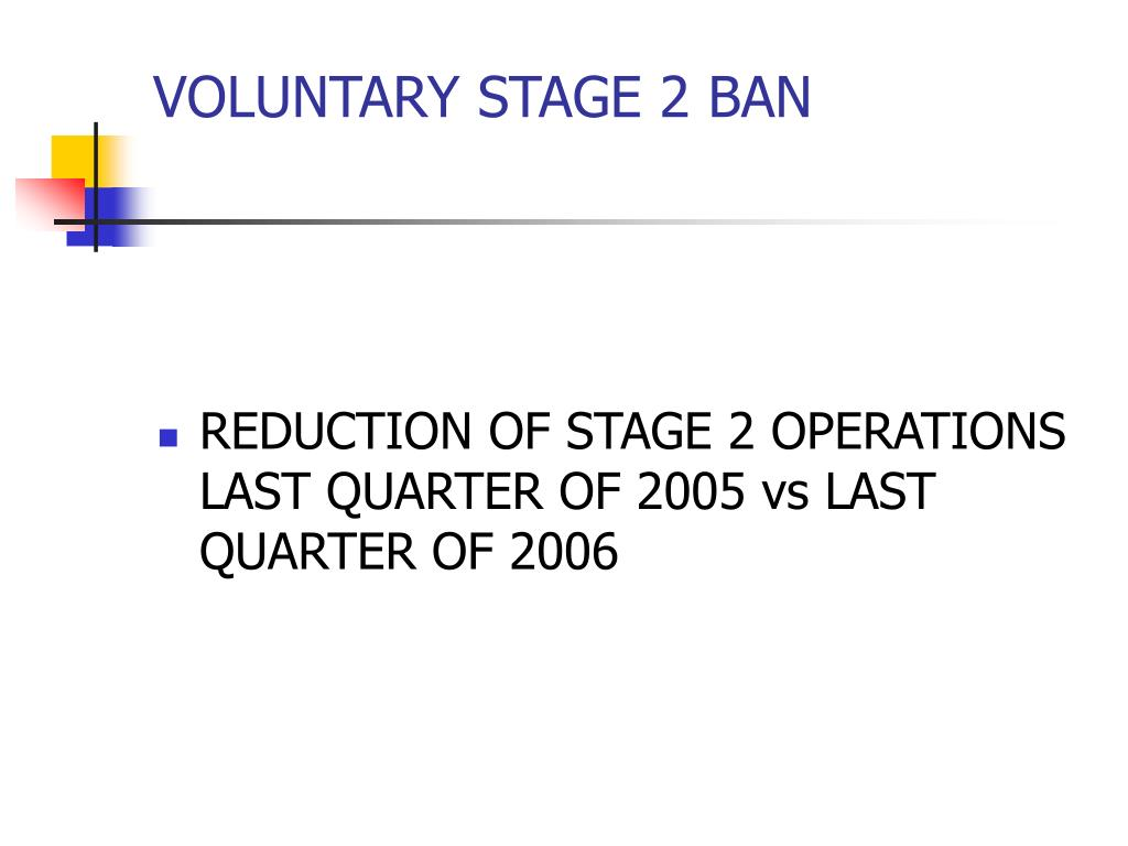 VOLUNTARY STAGE 2 BAN