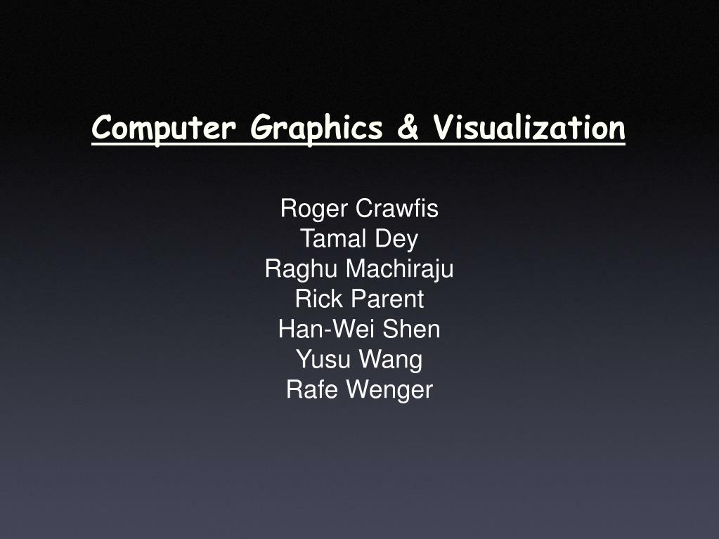 computer graphics visualization l.