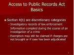 access to public records act basics11