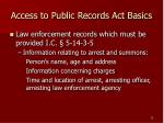 access to public records act basics13
