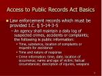 access to public records act basics15