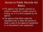 access to public records act basics5