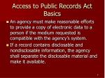 access to public records act basics6