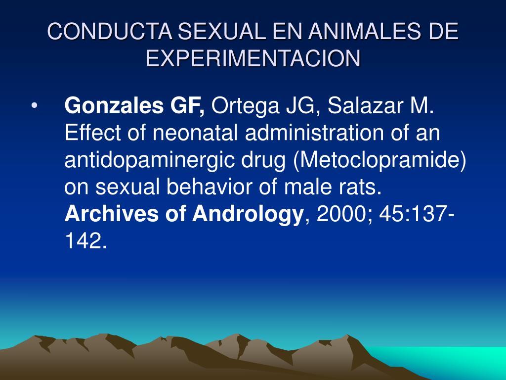 CONDUCTA SEXUAL EN ANIMALES DE EXPERIMENTACION