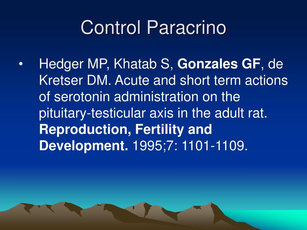 Control Paracrino