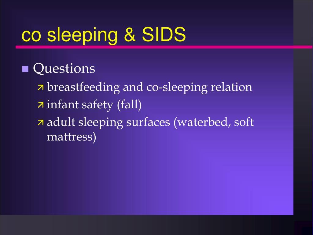 co sleeping & SIDS
