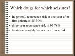 which drugs for which seizures