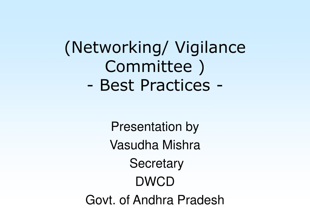 networking vigilance committee best practices l.