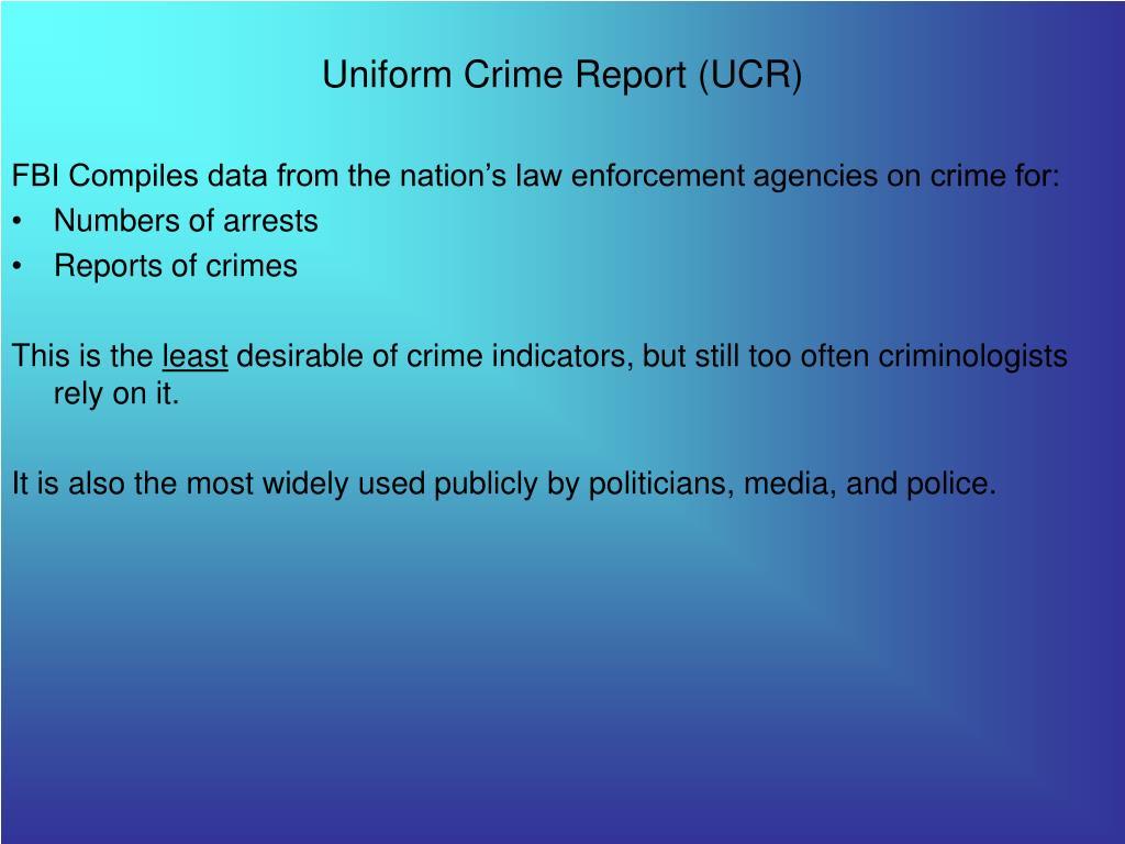 uniform crime report ucr l.