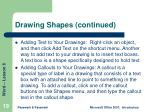 drawing shapes continued