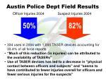 austin police dept field results