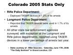 colorado 2005 stats only40
