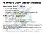 ft myers 2004 arrest results