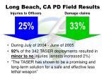 long beach ca pd field results