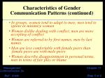 characteristics of gender communication patterns continued5