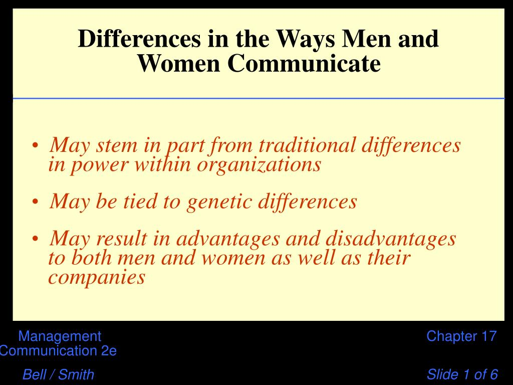 differences in the ways men and women communicate l.