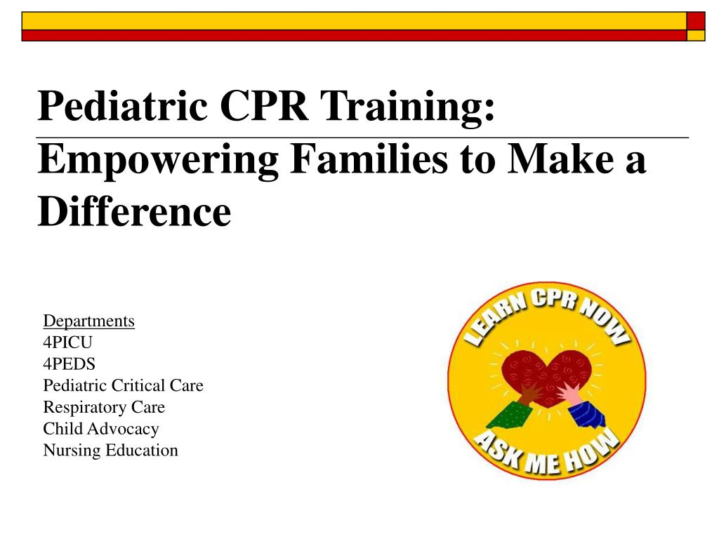 Pediatric CPR Training: Empowering Families to Make a Difference
