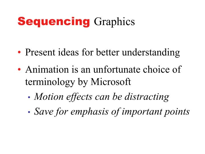 Sequencing graphics
