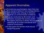 apparent anomalies