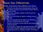 basic sex differences