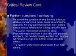 critical review cont