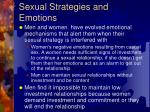 sexual strategies and emotions