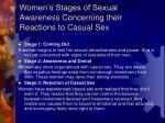 women s stages of sexual awareness concerning their reactions to casual sex