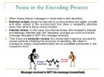 noise in the encoding process