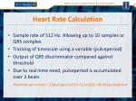 heart rate calculation