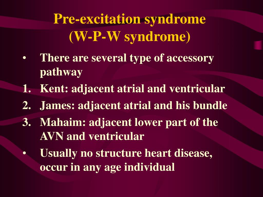 Pre-excitation syndrome