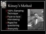 kinsey s method