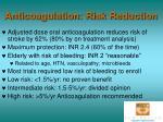 anticoagulation risk reduction
