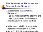 the national health and social life survey