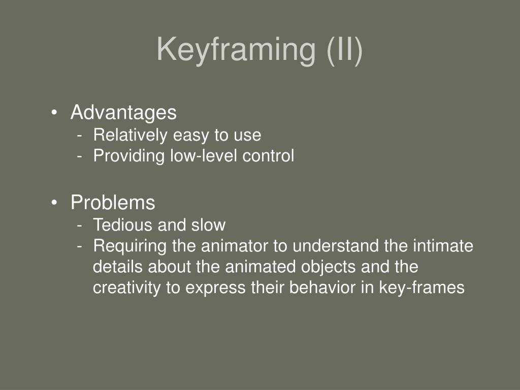 Keyframing (II)