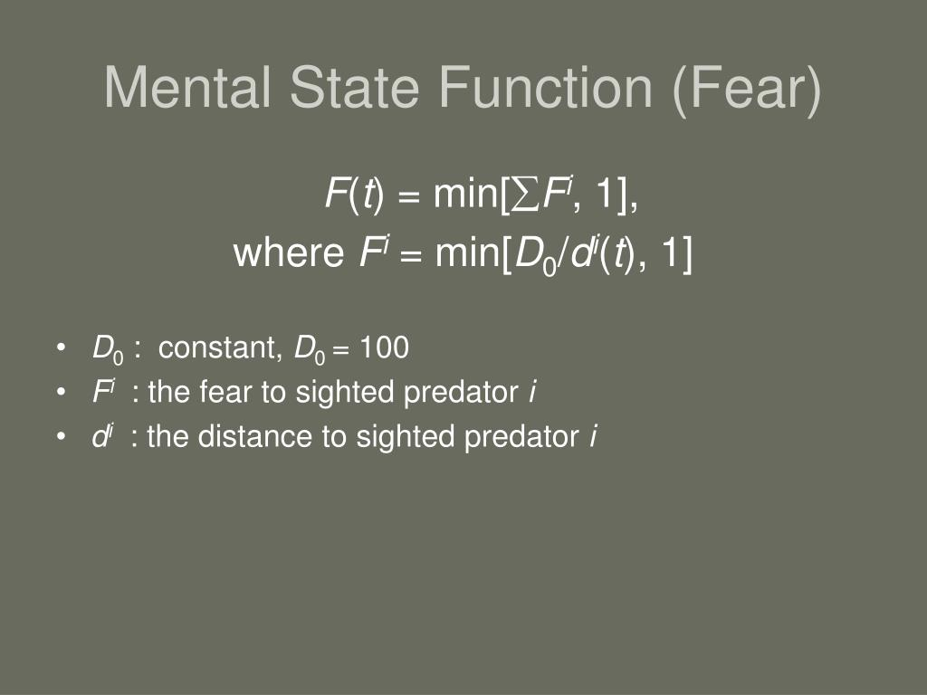 Mental State Function (Fear)